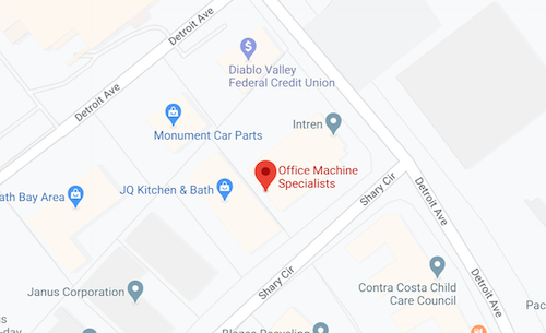 Office Machine Specialists Map